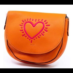 Coach X Keith Haring Hudson Heart Bag $395 msrpnew